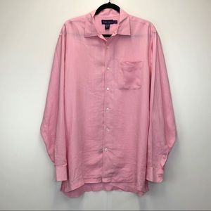 Ralph Lauren Purple Label Linen Button Down Shirt
